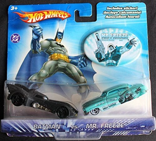 Hot Wheels DC Comics Batman vs Mr Freeze 1:64 Scale Die Cast Car 2 Pack
