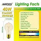 ANYQOO Edison Vintage Bulbs Filament Antique Lighting Chandelier (E26/E27) 40W