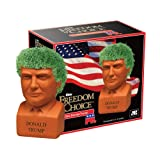 Chia Pet Donald Trump, Decorative Pottery Planter, Freedom of Choice, Easy To Do and Fun To Grow, Novelty Gift, Perfect For Any Occasion (Color: orange, Tamaño: One Size)