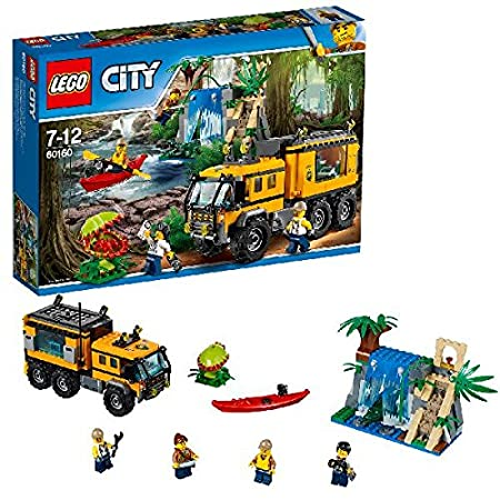 LEGO - 60160 - City - Jeu de Construction - Le laboratoire mobile de la jungle