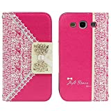 TPT Hot Pink Fashion Sweet Cute Flip Wallet Leather Case Cover for Samsung Galaxy S3 I9300