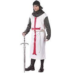 British Knight Costume Templar Army Warrior Renaissance Costume