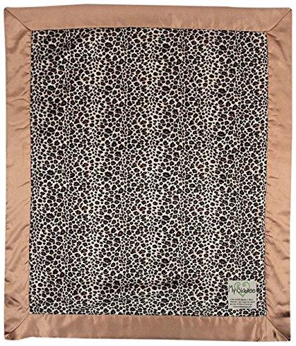 "My Blankee Leopard Minky Baby Blanket, 14"" X 17"", Brown"
