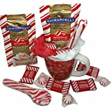 Ghirardelli Peppermint Lovers Gift Mug ~ Includes Ghirardelli Hot Cocoa, Peppermint Bark, Peppermint Spoon, and Pepperment Candies