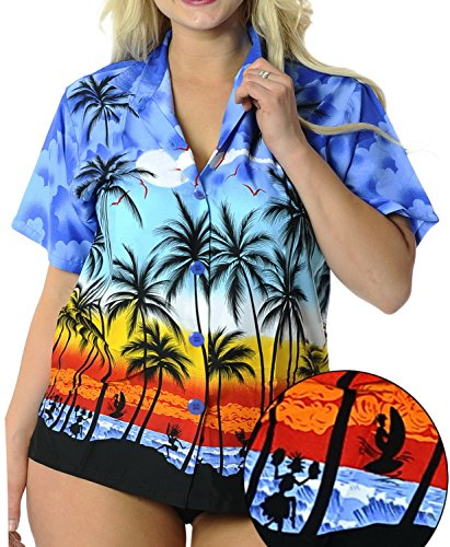 La Leela Likre Royal Blue Palm Tree Printed
