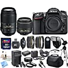 Nikon D7100 24.1 MP DX-Format CMOS Digital SLR With Nikon 18-55mm f/3.5-5.6G VR II AF-S DX NIKKOR Zoom Lens & Nikon 55-300mm f/4.5-5.6G ED VR AF-S DX Nikkor Zoom Lens & CS Premium Package: Includes High Speed 32GB SDHC Memory Card, SD Card Reader, Memory Card Wallet, SLR Hand Strap, Lens Cap Keeper, High Definition Wide Angle Lens, Telephoto HD Lens, 3 Piece Filter Kit, 4 Piece Macro Close Up Set, Wireless Shutter Release, Shoe Mount Flash, Nikon EN-EL15 Replacement Battery, Rapid Travel Charger With Car Adapter, HDMI Cable, Tulip Lens Hood, Full Size Tripod, Weather Resistant Carrying Case, Brush Blower, Cleaning Kit, LCD Screen Protectors & CS Microfiber Cleaning Cloth
