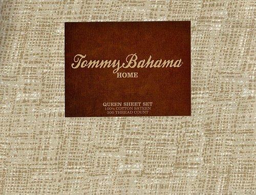 Tommy Bahama Raffia Sand Queen Sheet Set front-966463