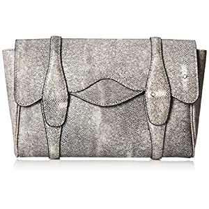 BCBG Faux Stingray Clutch,Stone,One Size