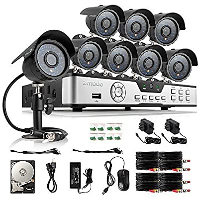 Zmodo 8CH HDMI 960H DVR 700TVL Night Vision IR Outdoor Indoor CCTV Surveillance Home Video Security Camera System 1TB Hard Drive Scan QR Code Easy Remote Access in Seconds
