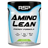 RSP AminoLean - All-in-One Pre Workout, Amino Energy, Weight Loss Supplement with Amino Acids, Complete Preworkout Energy & Natural Fat Burner for Men & Women, Lemon Lime, 30 Servings