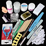 Nail Art Brush Pen Tips UV Gel Acrylic Liquid Tweezers Sanding File Buffer Form Training Practice Finger Toes Separators Sticke Glue Pump Dispenser Nipper Set Manicures Kit 2000pcs Mix Shaped Rhinestones 1000pcs 1.5mm Round Rhinestones
