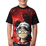FOTNNRFK Gorillaz-Band Fashion 3D Youth T T-Shirt.We Have More Beautiful Products In Our Store! (Color: Black, Tamaño: Small)