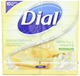 Dial White Tea and Vitamin E Glycerin Soap, 4-Ounces Bars, 10 Count (Pack of 2)
