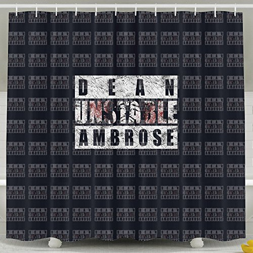 ASJDO Shower Curtains WWE Dean Ambrose Unstable Wallpaper (Rug Doctor 96 compare prices)