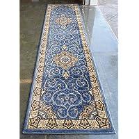Traditional Area Rug Runner Design #404 Blue