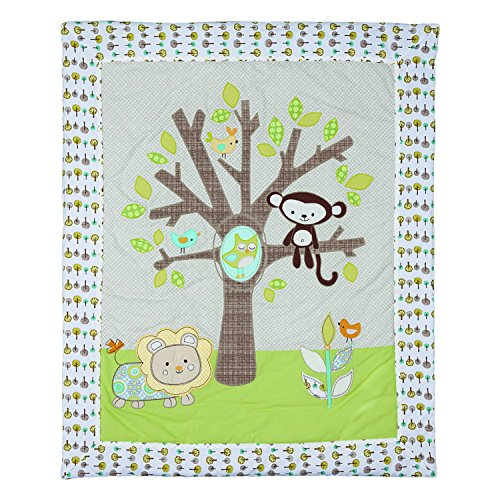 Lolli Living Baby Quilt, Animal Tree