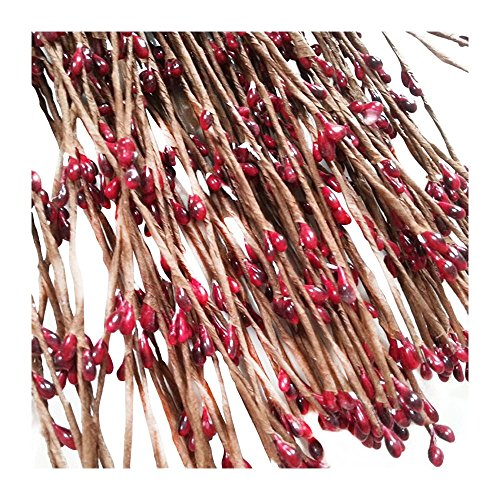 Flower vine - SODIAL(R) 20pcs Artificial Pip Berries Vine Garland Home Wall Party Wedding Decor Red
