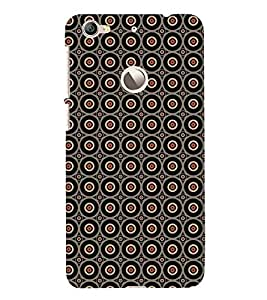 Fuson Premium Back Case Cover Colourful circle patten With Yellow Background Degined For Letv Le 1S