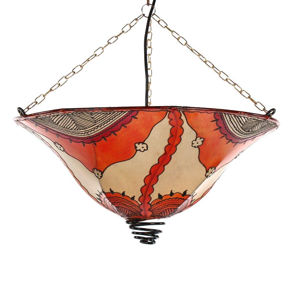 Lampenschirm orientalische Hennalampe Vido bunt marokkanische Lederlampe Hängeleuchte Orientlampe   Kundenberichte und weitere Informationen