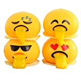 Squeeze Toys, WM & MW Spitting Yolk Emoji Egg Stress Relief Toys Novelty Gag Toys Gifts