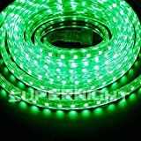 BINZET 5m 5050 SMD 110V-120V Green LED Rope Light IP67 Waterproof Outdoor Decoration Lighting, Christmas LED Lighting, Seasonal LED Lighting, Garden Patio LED Lighting