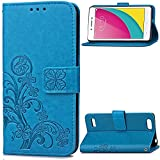 Oppo A33 Hülle, Oppo A33 Case,Cozy Hut Lucky Clover Muster