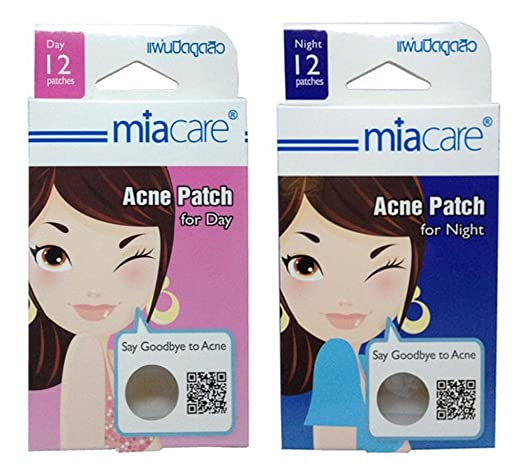 Miacare Clear Acne Patch Acne Dressing Patches for Acne Relief for Day and Night (1Pack/12 Patches)