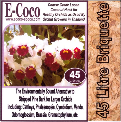 45 Litres compressed--COARSE-GRADE-ORCHID-ORCHIDS-GROWING-MEDIA-COMPOST-SOIL-BARK-SUBSTITUTE from E-Coco Products UK