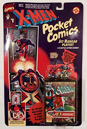 X-Men Pocket Comics Jet Hangar Playset - 1