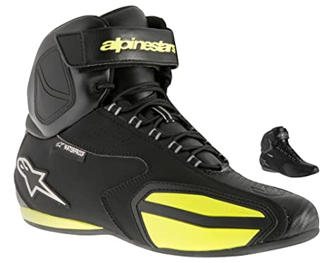 Alpinestars fASTER wATERPROOF sHOES couleur noir/jaune fLUO, taille 5