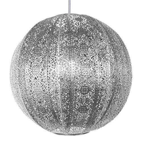 Easy Fit Bohemian Indian Moroccan Pendant Fitting Round Ceiling Light Shade by Country Club