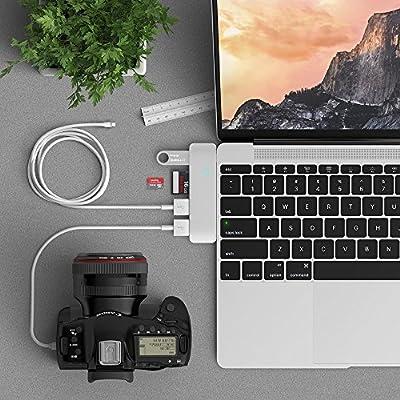 Satechi® 新12インチMacBook用 Type-C USB3.0 3in1 コンボハブ (シルバー)