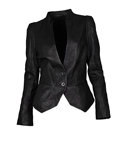 TIGHA Lederjacke Dakota in Schwarz - black, L black S