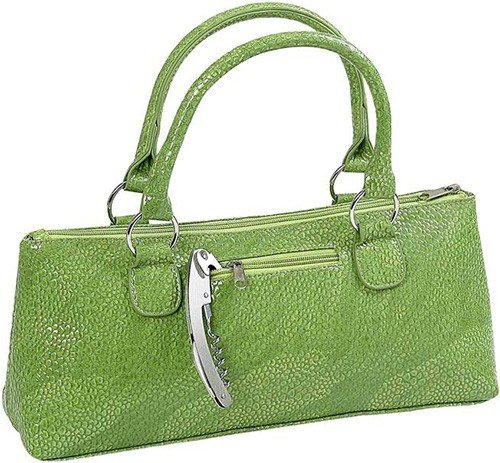 Primeware Serpentes Wine Clutch, Green
