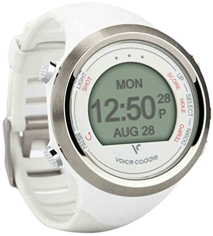 Voice Caddie T1 GPS Watch White White