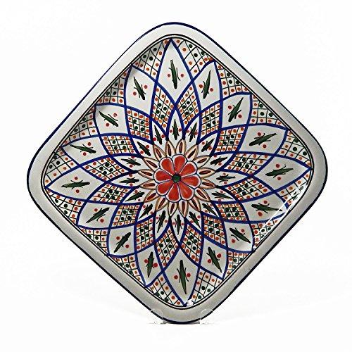 Le Souk Ceramique Square Platter, Tabarka Design
