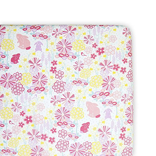 Weegoamigo - Crib/Cot Fitted Sheet - Blooming Bunny