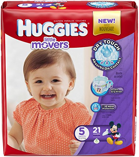 Huggies Little Movers Diapers - Size 5 - 21 ct - 1
