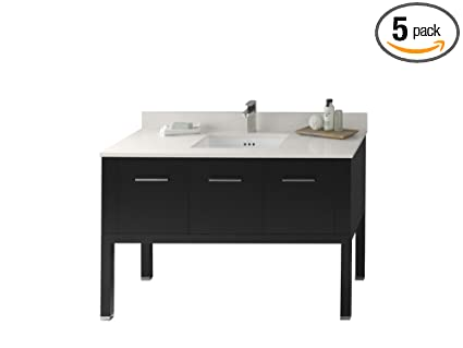 "Ronbow 036848-B02_Kit_2 Calabria Bathroom Vanity Set, 48"", Black"