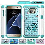 Galaxy S7 Case, HLCT Rugged Shock Proof Dual-Layer Case for Samsung Galaxy S7 (2016) (Cute Owl)