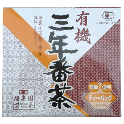 Harimaen Kyoto Uji Organic Sannen-Bancha Teabag 5G*24P(Japan Import)Jas Mark