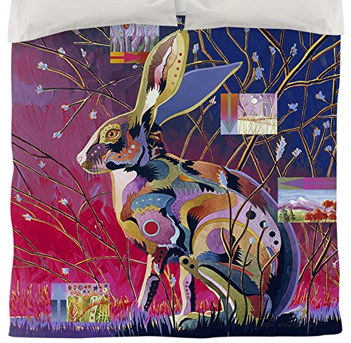 Thumbprintz Duvet Cover, Twin, Alert Jack Rabbit front-476685