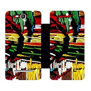 Phone Candy Designer Flip Cover with hi-res printed Vinyl sticker wrap-around for Micromax Canvas Juice 3 Q392