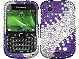 Purple Ruby Bling Rhinestone Diamond Crystal Protecter for Blackberry Bold 9900 9930