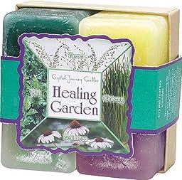 Herbal Candles Gift Set - Healing Garden, Thyme, Mint, Ginseng, Echinacea