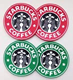 【G&C】 STARBUCKS スタバ オリジナルロゴ ラバーコースター 2色 4枚セット