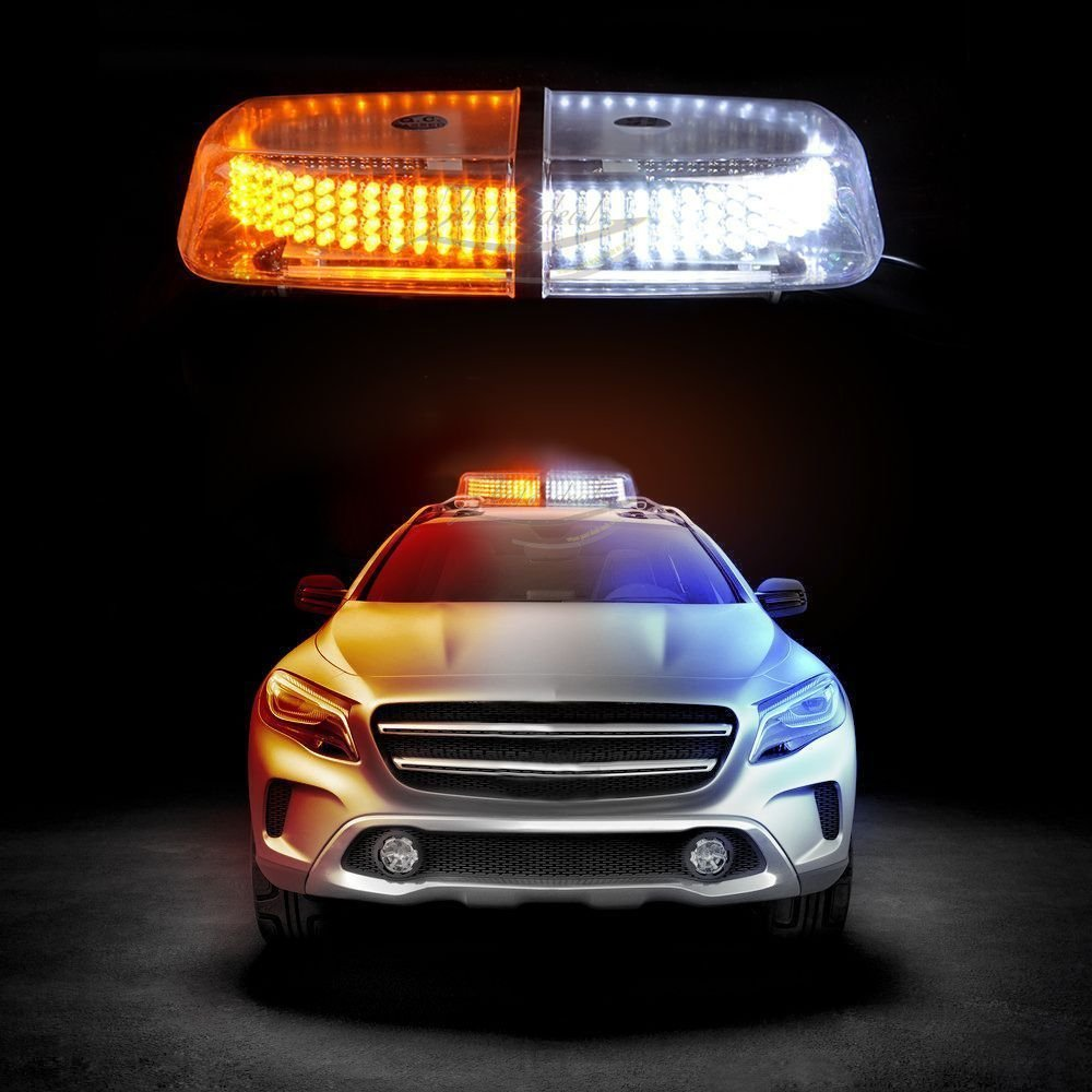 240 led amber white safety warning flashing strobe light snow plow service truck ebay. Black Bedroom Furniture Sets. Home Design Ideas