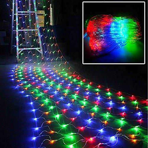 Isightguard 8モード2M x 3M 200LEDメッシュ妖精ライト 屋内屋外のホームガーデンクリスマスパーティーウェディング用 (カラフル)