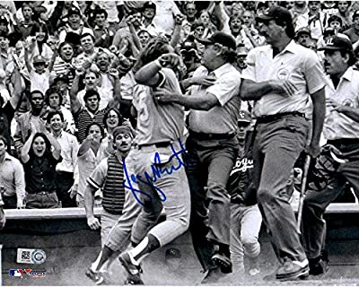 George Brett Kansas City Royals Autographed 8'' x 10'' Black and White Pine Tar Photograph - Fanatics Authentic Certified