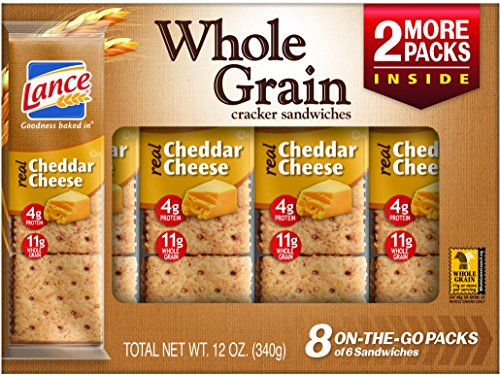 Lance Whole Grain Cracker Sandwiches with Real Cheddar Cheese, 8 Count (Pack of 14) (Wheat Cheese Crackers compare prices)